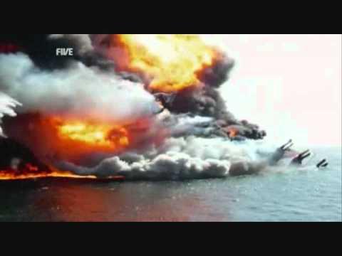 Download Rare Deepwater Horizon sinking video with sound