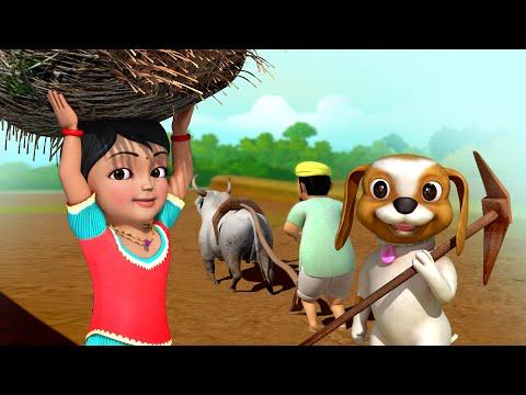 உழவுத் தொழில்  Tamil Rhymes for Children  Infobells