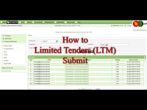 How to Limited Tenders (LTM) Submit