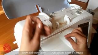Как правильно заправить нить в швейную машинку - Уроки шитья от Академии кроя УниМеКС(В видеоуроке из серии уроков шитья Академии кроя УниМеКС рассказывается о том, как правильно заправить..., 2015-04-15T06:47:49.000Z)
