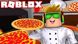 WORKING AT A PIZZA PLACE WITH MY DAD in ROBLOX