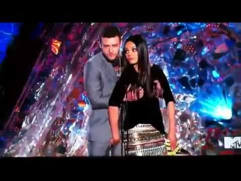 OMG!! Justin Timberlake & Mila Kunis Get Touchy-Feely Onstage (VIDEO)