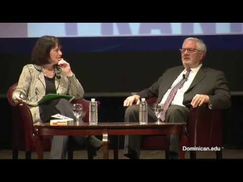 Barney Frank spoke with President Mary Marcy, Dominican University of California
