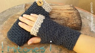 Repeat youtube video Mitones (Guantes sin dedos ) a Crochet / Punto cruzado