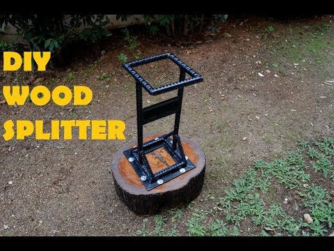 DIY  Kindling Cracker / Log Splitter from Rebar