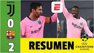 Juventus 0-2 Barcelona. Messi y Dembélé ANOTAN. ¡A Morata le ANULAN TRES GOLES! | Champions League