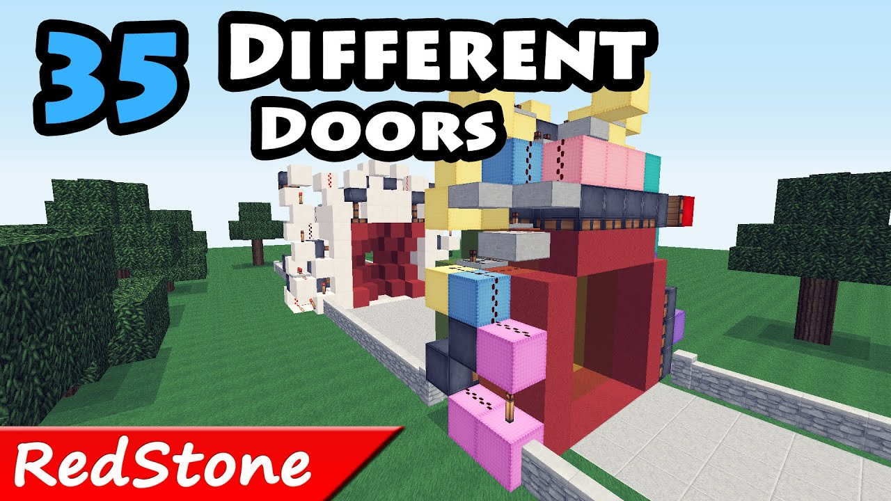 Minecraft 35 Different Doors in 120 seconds / redstone creations / +DOWNLOADS - YouTube  sc 1 st  YouTube & Minecraft: 35 Different Doors in 120 seconds / redstone creations ...