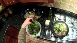 How To Cook Paleo Diet Dinner - Split Chicken Breast, Beets, Greens