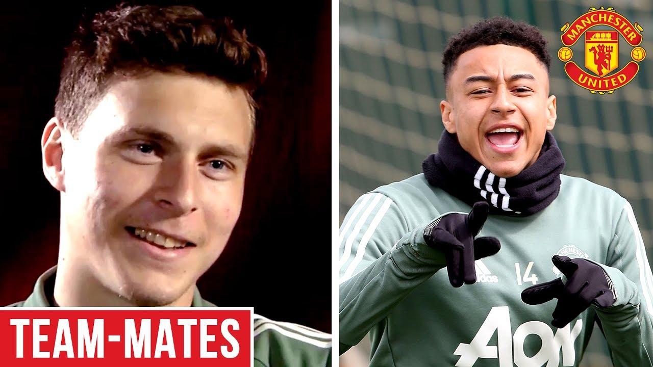 Lingard is the Funniest, Rashford is Lightning Quick! | Lindelof's Team-Mates | Manchester Unit