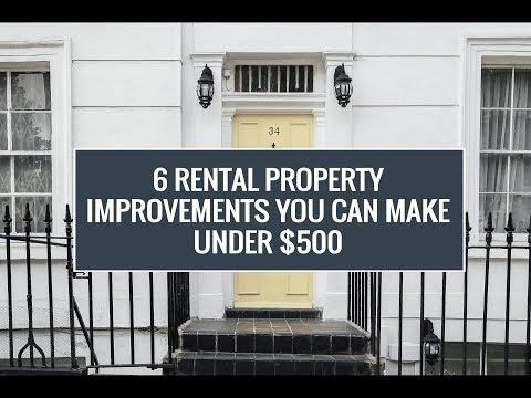 6 Rental Property Improvements You Can Make Under $500