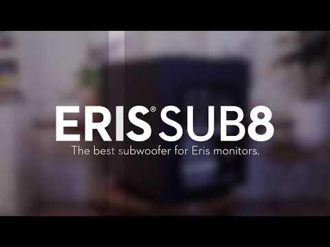PreSonus Eris Sub8 studio subwoofer—The best subwoofer for Eris monitors.