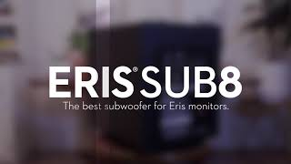PreSonus Eris Sub8 studio subwoofer—The best subwoofer for Eris monitors.