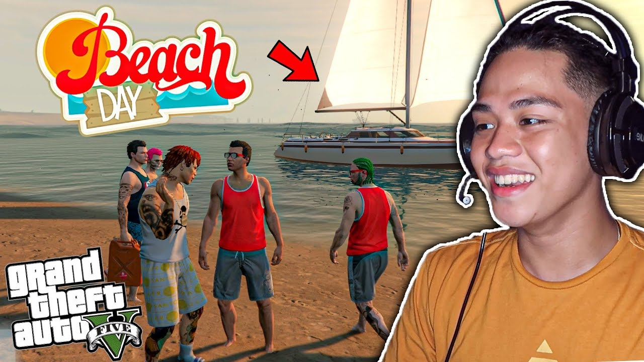 First BEACH Outing ng BILLIONAIRE GANG sa GTA 5 Online!! (surprise)