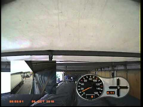 Cargo moves at low speed braking