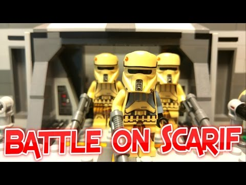 LEGO Star Wars Rogue One BATTLE ON SCARIF (Stop Motion Animation)