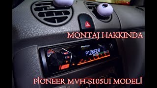 PİONEER MVH-S105UI MONTAJ OTO TEYP | RENAULT KANGOO