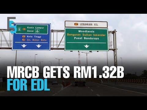 EVENING 5: MRCB gets RM1.32b for EDL