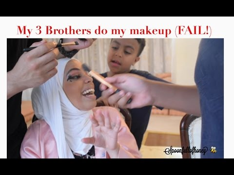 My 3 Brothers do my makeup (EPIC FAIL) | Challanges