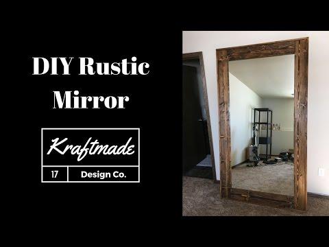 DIY Rustic Mirror - Kraftmade