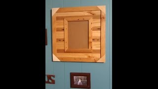 Rustic pallet wood picture frame