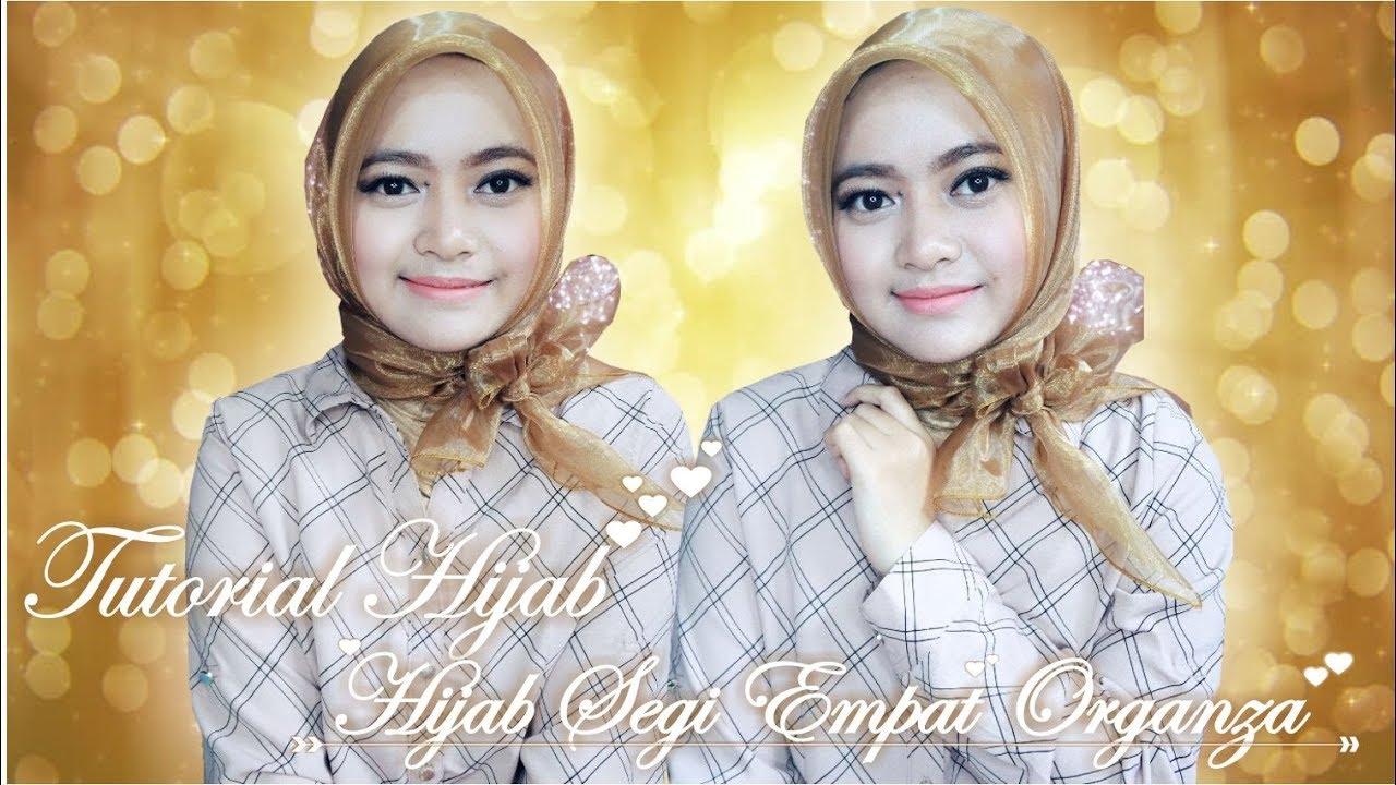 tutorial hijab segi empat organza | seftin prahaswati - youtube