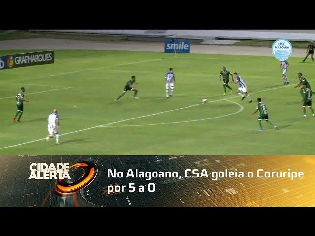 Futebol: No Alagoano, CSA goleia o Coruripe por 5 a 0