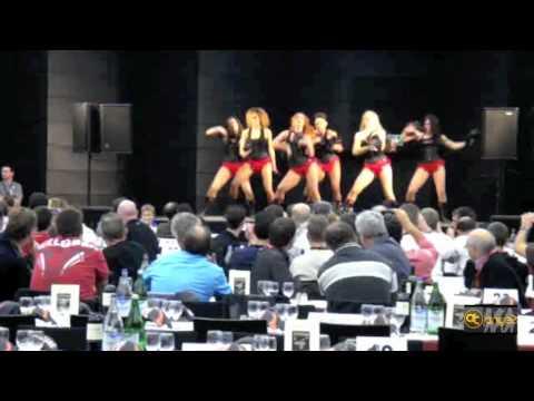 """Danseuses-Pompom Girls """"Angels"""" au Supercross de Genève 2011."""