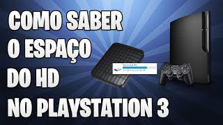 [Dicas de PS3] Como saber o espaço do HD do PS3