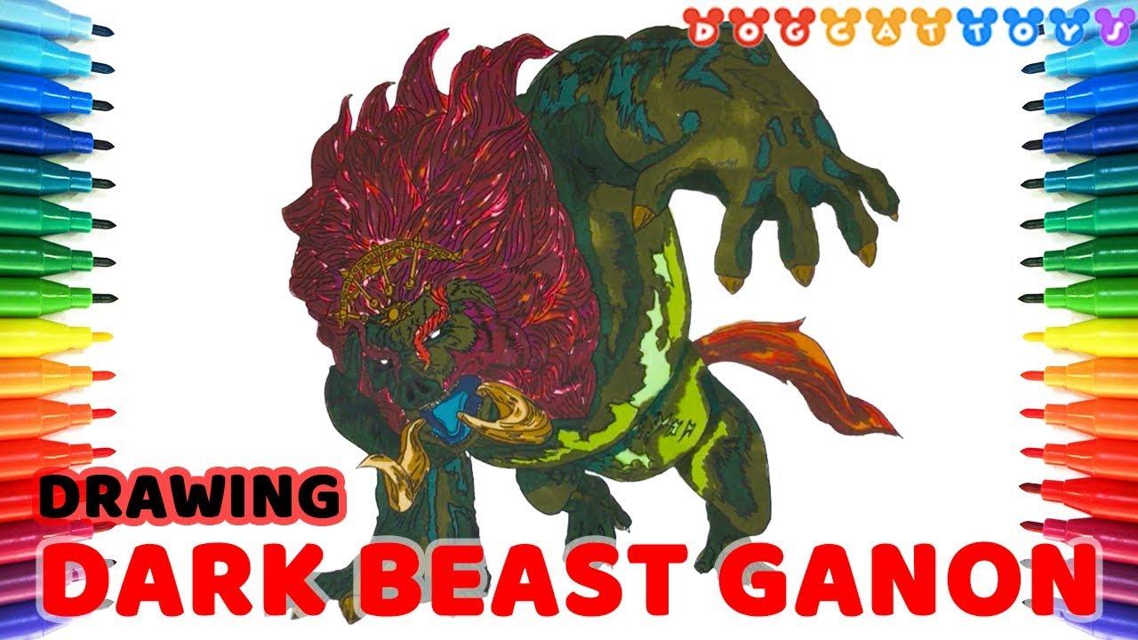 drawing zelda  dark beast ganon  125