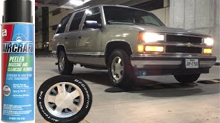 Using Aircraft remover on my 99 Tahoe stock wheels