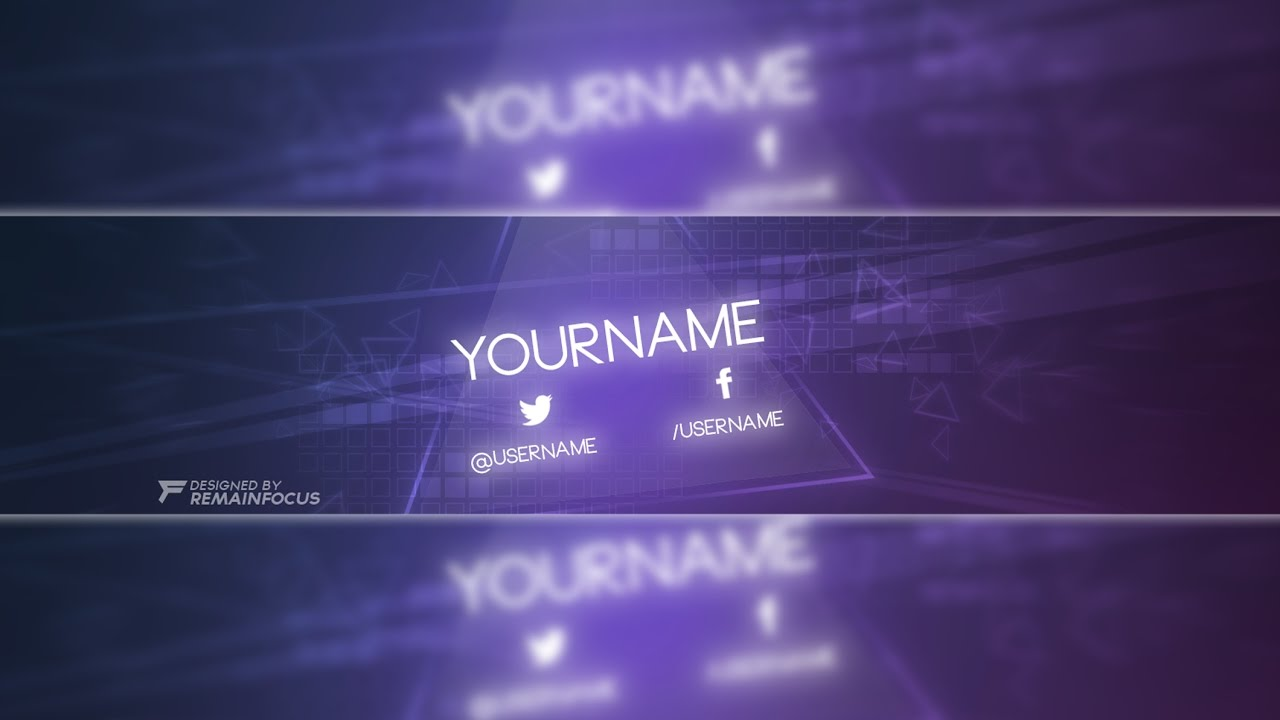 glow themed youtube banner template psd 2017 youtube banner
