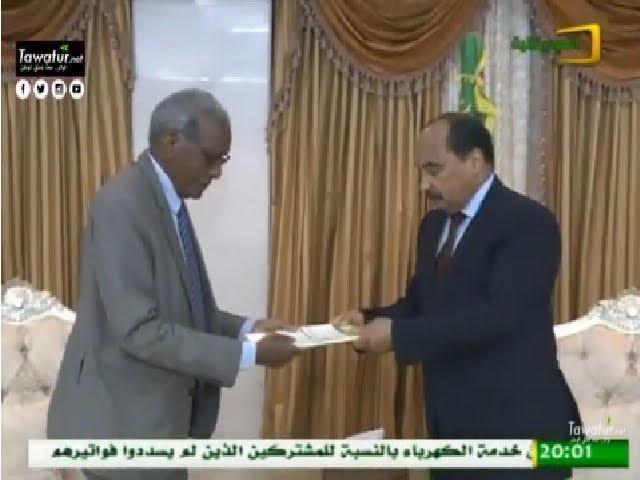 ولد عبد العزيز يستقبل تقرير اللجنة المستقلة للإنتخابات حول الإستفتاء الدستوري الأخير