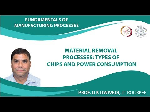 Lecture 38: Material Removal Processes: Types of Chips and Power Consumption