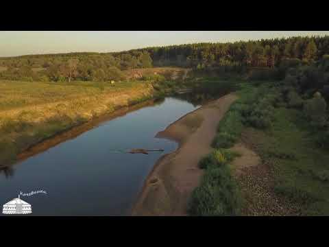 Природа Калужской области. Заливные луга Оки и Жиздры с высоты