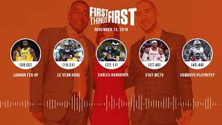 First Things First audio podcast(11.13.18)Cris Carter, Nick Wright, Jenna Wolfe   FIRST THINGS FIRST