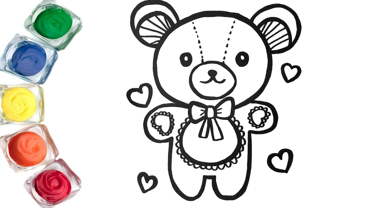Teddy Bear Coloring Page For Children