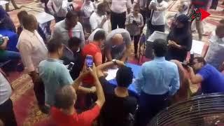 ابراهيم حسن يصوت في عمومية الأهلي
