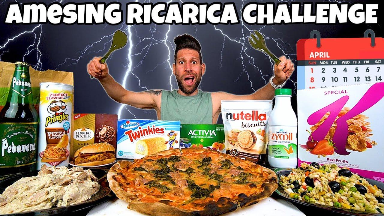 aMESIng RICARICA CHALLENGE di APRILE (12000 Calorie) MAN VS FOOD