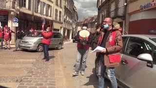 Les grévistes du site SKF d'Avallon.