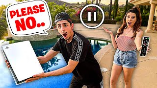 PAUSE CHALLENGE With My Girlfriend For 24 HOURS!! **Bad Idea**