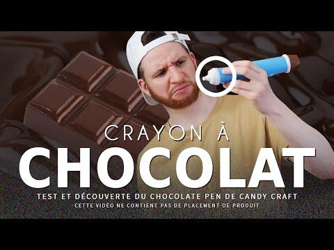 CRASH TEST : crayon à chocolat (chocolate pen)