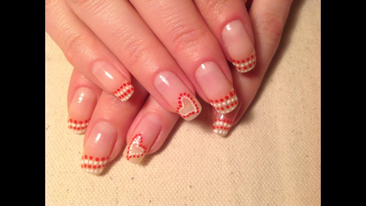 фото рисунки на ногтях точками в домашних условиях