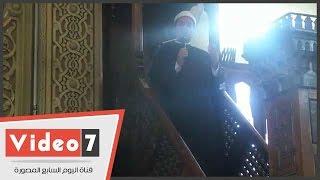 بالفيديو..مظهر شاهين فى خطبة الجمعة: سد حوائج الناس أولى من حج النافلة
