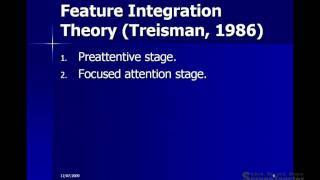 Feature theories of perception