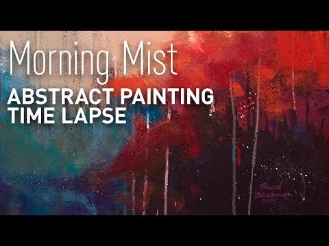 """Abstract Landscape Painting Time Lapse """"Morning Mist"""""""