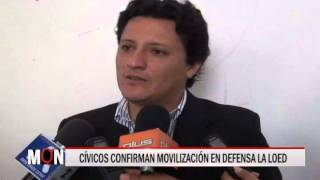 03/07/15 14:30 CÍVICOS CONFIRMAN MOVILIZACIÓN EN DEFENSA LA LOED