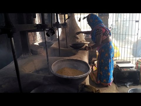 Puffed rice-Popped puff rice | The Making of Murmura | Muri vaja Factory