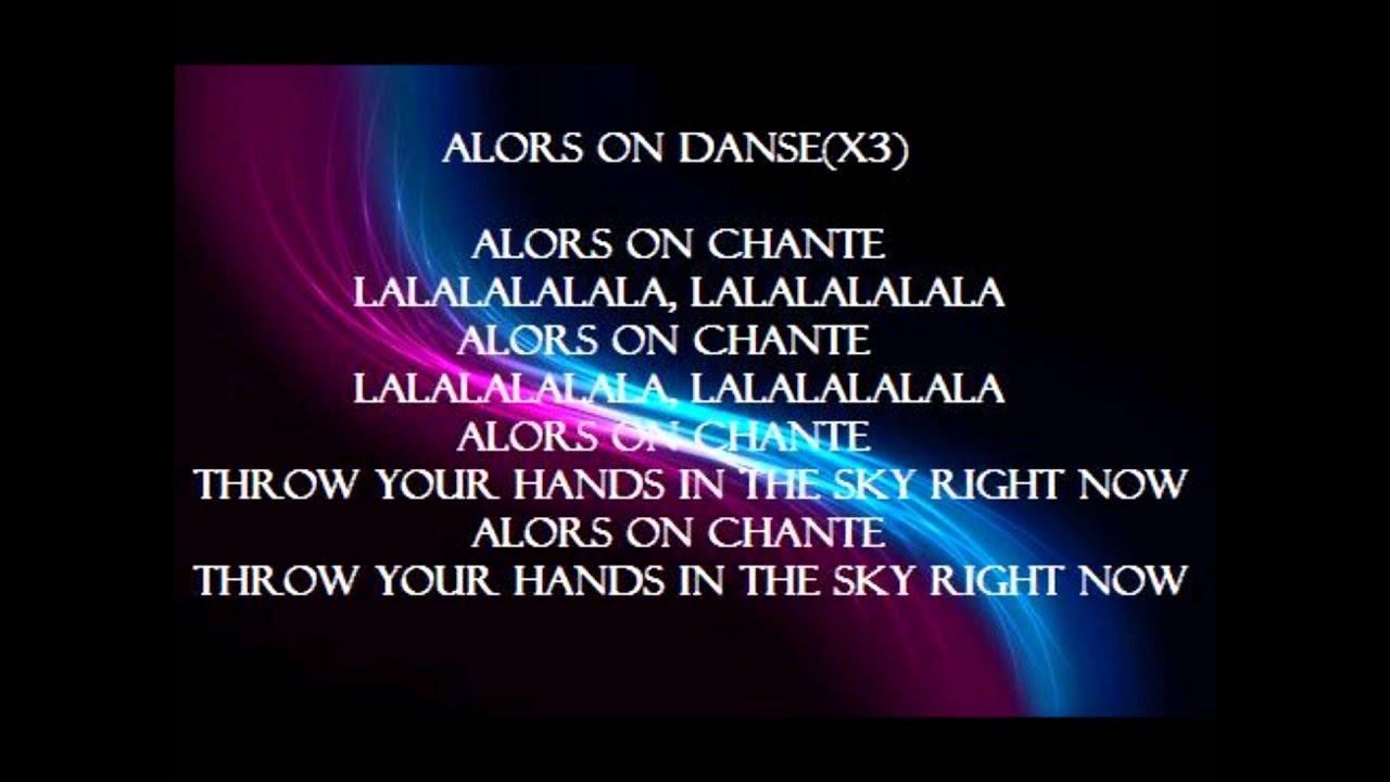Alors On Danse Kanye West Lyrics Hd Youtube