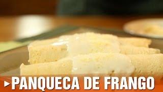 Panqueca de Frango com Molho Branco
