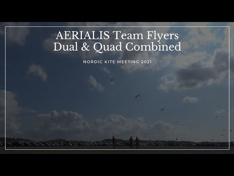 NKM2021 - AERIALIS Team Flyers Combining Dual and Quad Kites
